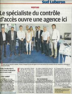 Article La Provence Elsylog Pertuis Juin 2015